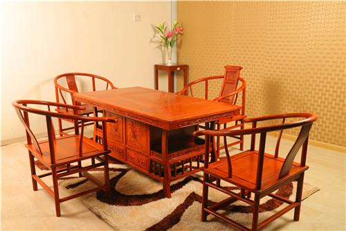 1.6米花梨木功夫茶桌 红木茶台