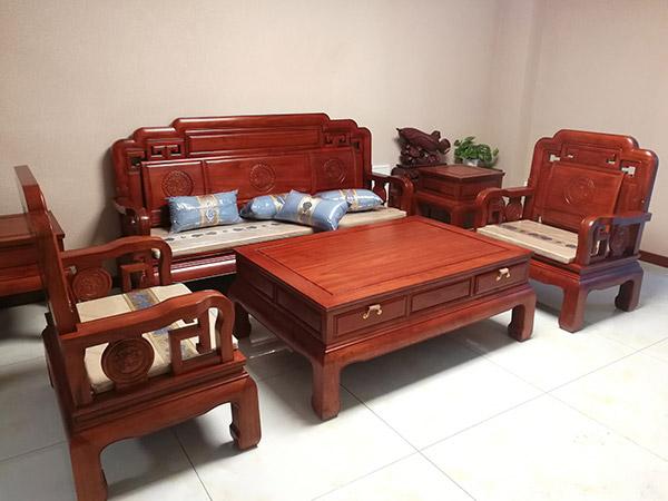 花梨木国色天香沙发 红木沙发