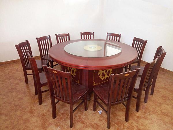 1.8米酒店圆桌 实木圆桌
