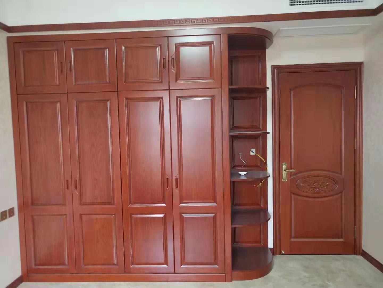 2米水曲柳衣柜 全屋定制 实木衣柜