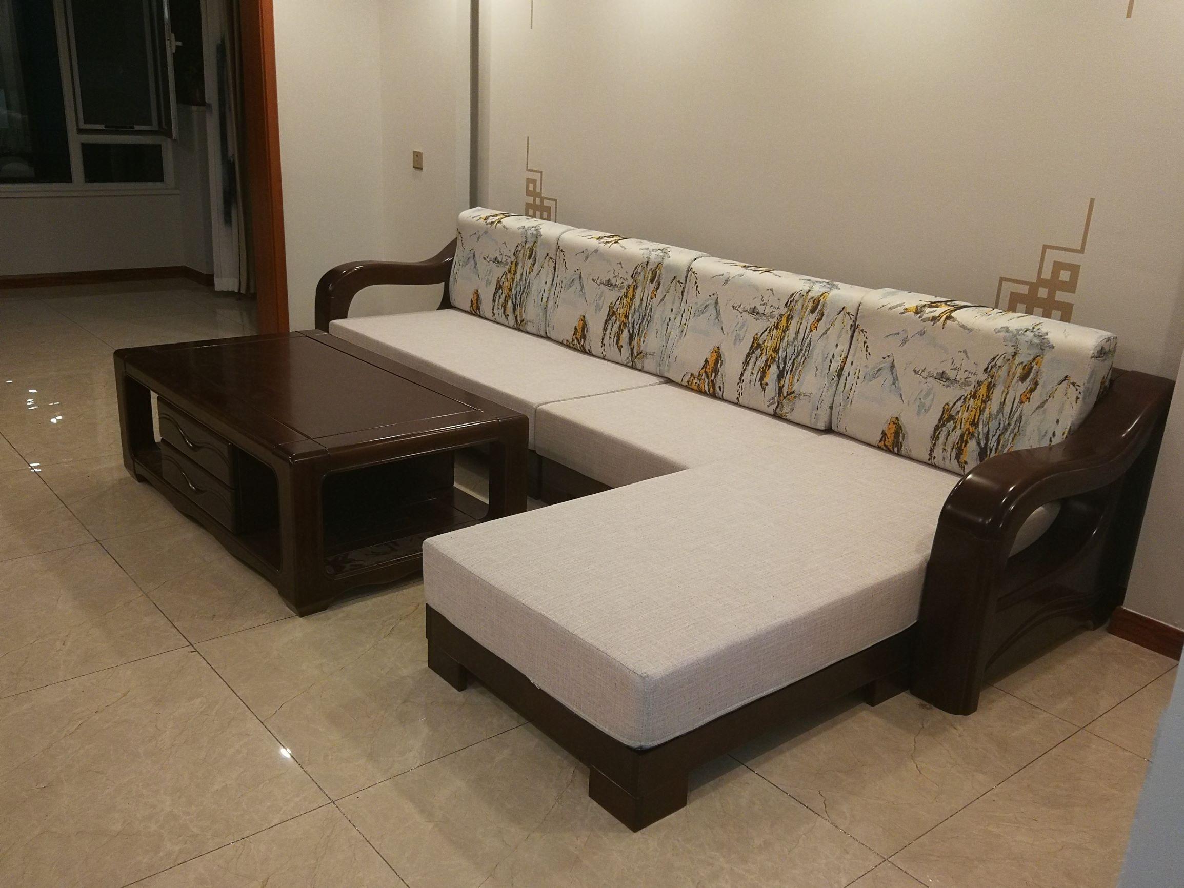 3.5米橡木大S沙发 实木沙发