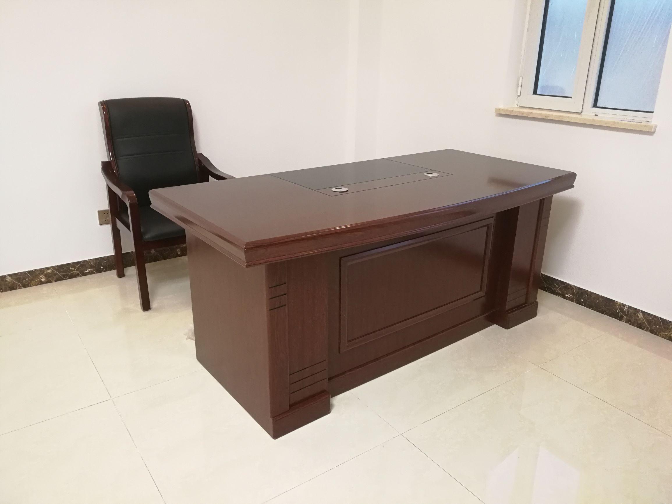 1.6米纸皮办公桌 老板桌 班台