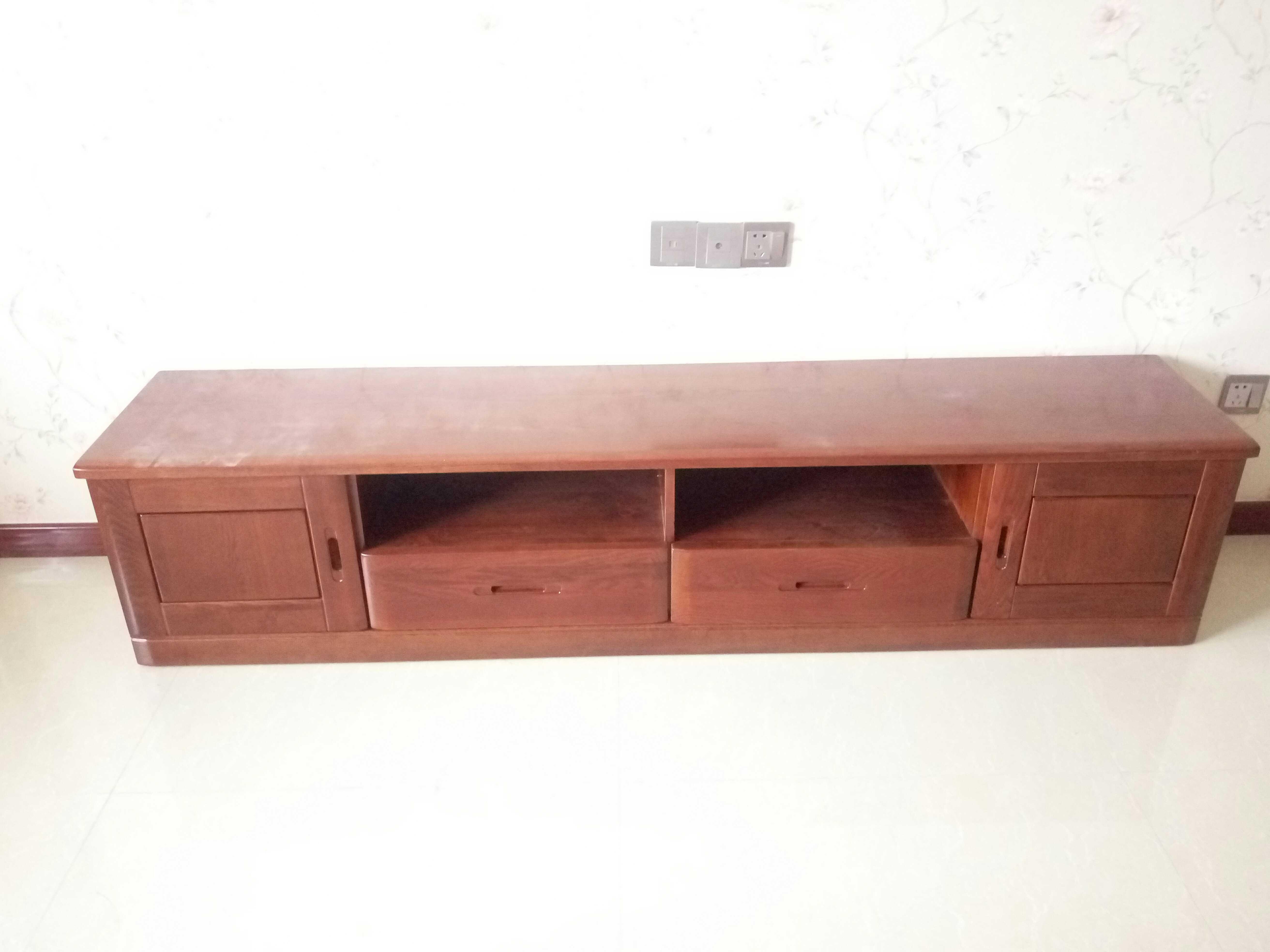 2米水曲柳电视柜 实木电视柜
