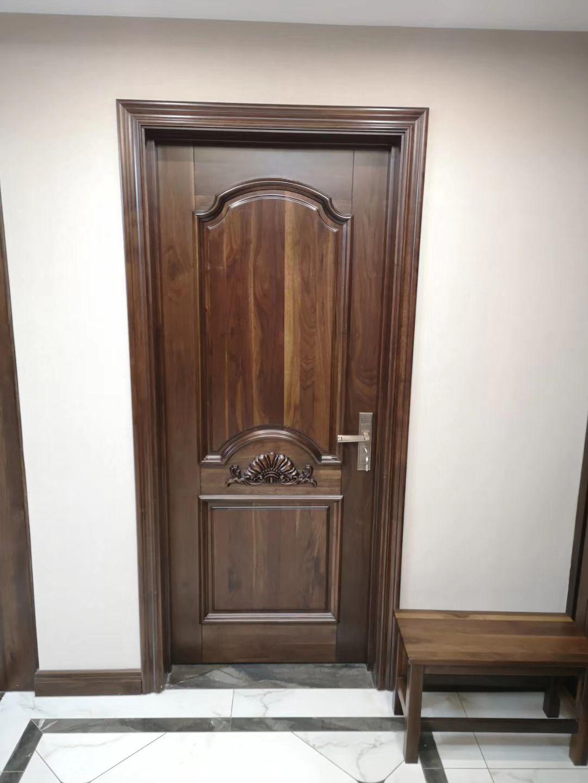 08胡桃木门 实木门 卧室门