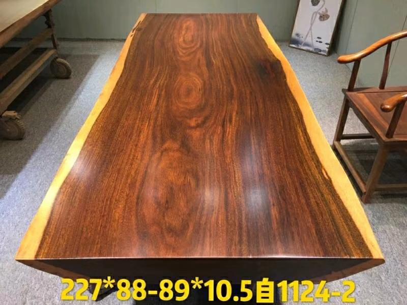 奥坎自然边大板 红木大板