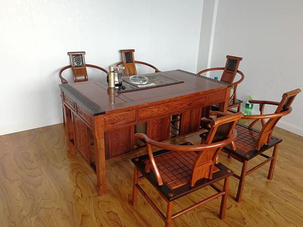 刺猬紫檀茶桌