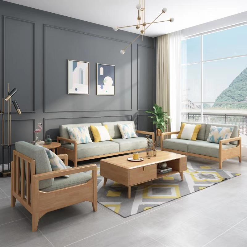 北欧风格家具 北欧实木沙发