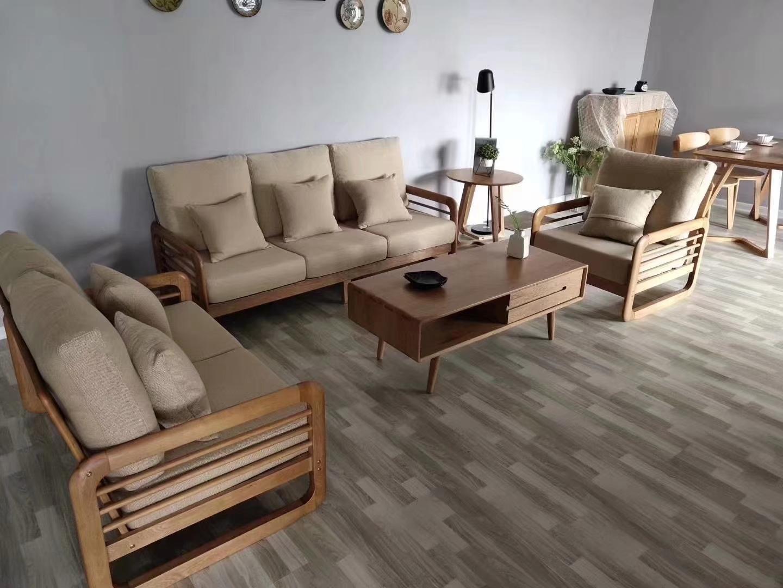 北欧新中式实木沙发