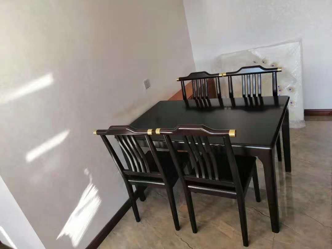胡桃木 橡胶木 新中式餐桌