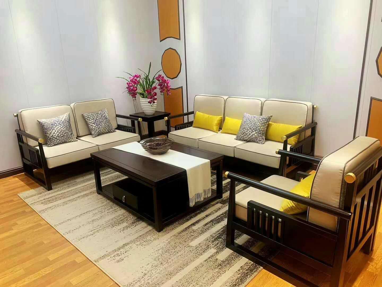 胡桃木新中式床