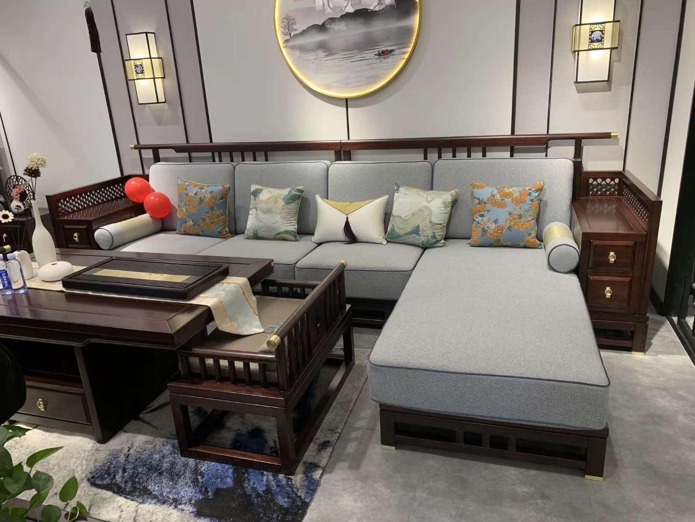 黑檀木新中式沙发