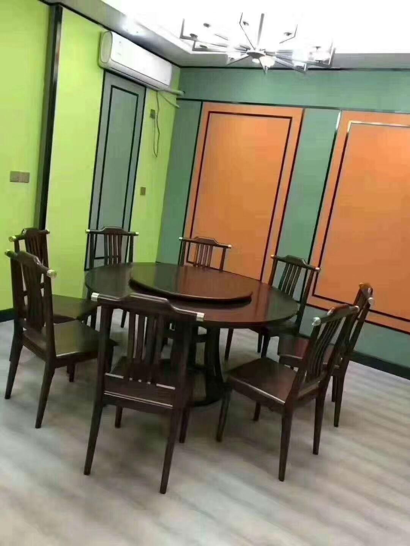 新中式餐桌 黑檀餐桌  实木餐桌厂家